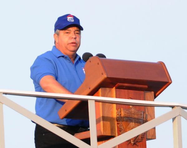 Ulises Guilarte de Nacimiento, miembro del Buró Político del Partido Comunista de Cuba y secretario general de la Central de Trabajadores de Cuba (CTC), pronunció las palabras de apertura del desfile por el Primero de Mayo, Día Internacional de los Trabajadores, en la Plaza de la Revolución José Martí, en La Habana Cuba, el 1 de mayo de 2018. AIN FOTO/Omara GARCÍA MEDEROS/sdl