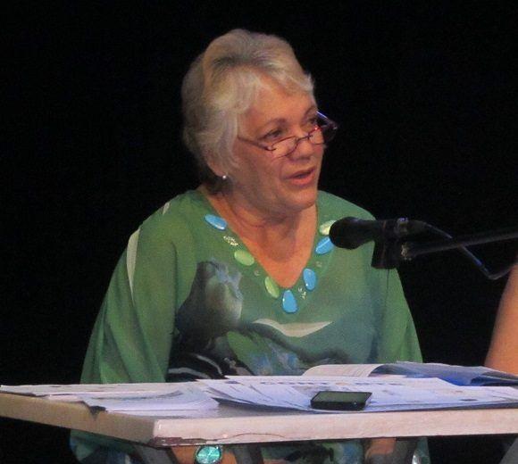 La actriz Elvia Pérez es la directora general de ContArte. Foto: Thalía Fuentes/Cubadebate.