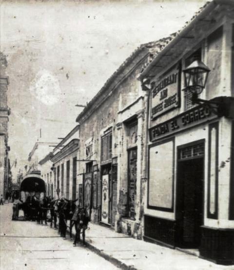 Fonda El Correo (principios siglo XX) en O'Reilly y Tacón