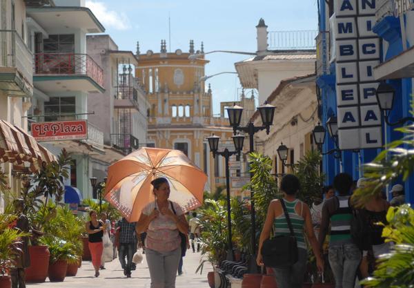 Boulevar de la ciudad de Sancti Spíritus. (Foto: ACN)