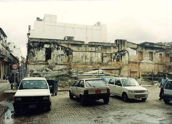 Parcela de Amargura y Cuba antes de la intervención