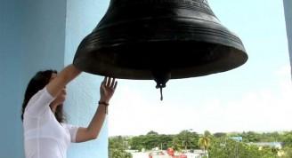 La campana que anunció el fin de la Invasión permaneció en silencio desde 1896. Foto: Lázaro Boza Boza