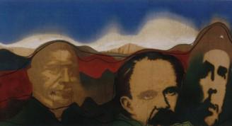 Gilberto Frómeta Del Río Bravo a la Patagonia, 1973 Técnica mixta sobre tela 87 x 251 cm Museo Nacional de Bellas Artes