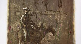 Agustín Bejerano Imágenes en el tiempo, 2000 Serigrafía 0.60 x 0.50 cm Colección de la OPM