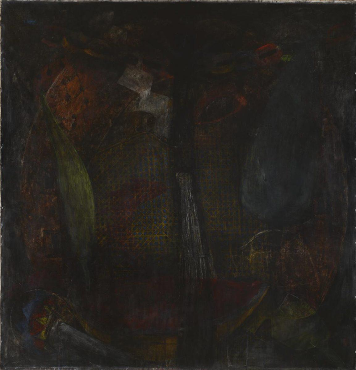 """""""Vértigo de Mediodía"""", 2018. Acrílico sobre lienzo, 200x200cm."""