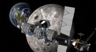 Estación espacial en el punto L2