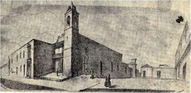 Hospital e iglesia de San Juan de Dios, siglo XIX