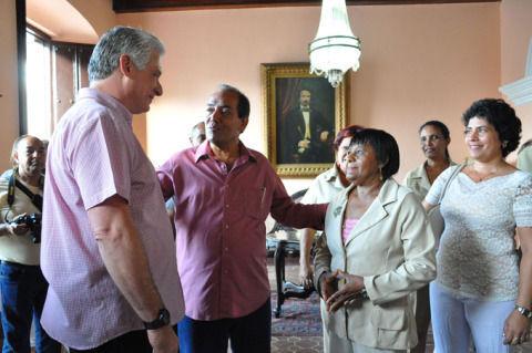 Miguel Díaz-Canel visita el museo Casa Natal de Céspedes, 28 de junio de 2018