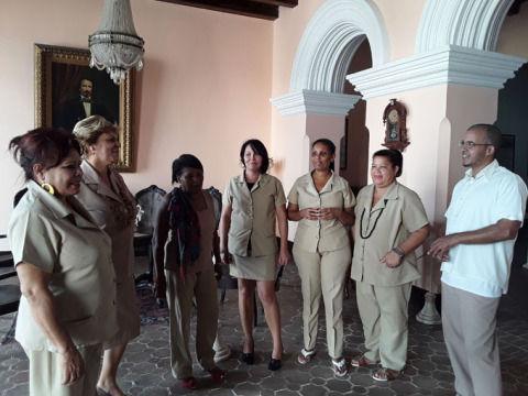 Trabajadores del Museo Casa Natal de Carlos Manuel de Céspedes, 26 de septiembre de 2018.