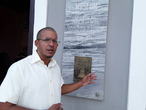 Miguel Antonio Muñoz López, especialista del museo Casa Natal de Carlos Manuel de Céspedes.