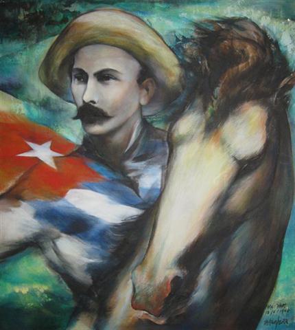 Ernesto García Peña (Matanzas, 1949) Óleo sobre tela 95 x 85 cm Colección de la OPM