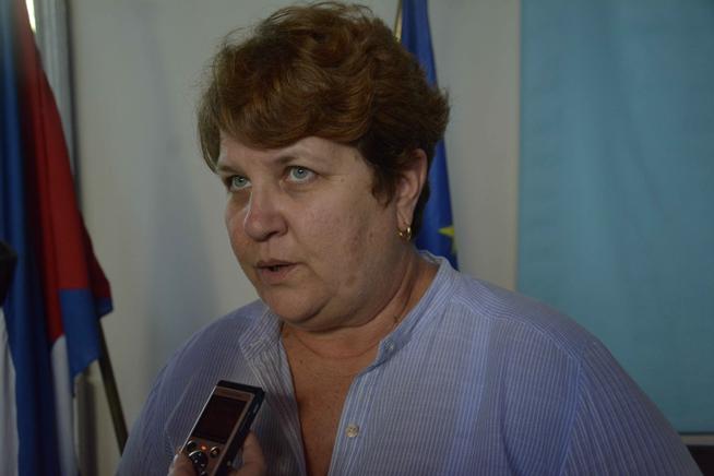 Vilma Bartolomé, arquitecta directora del proyecto Espacios, ofrece declaraciones a la Agencia Cubana de Noticias (ACN), en el teatro Mella, en La Habana, Cuba, el 19 de diciembre de 2018. ACN FOTO/ Ariel LEY ROYERO/ rrcc
