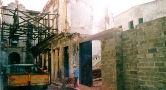 Obras hacia la calle Teniente Rey