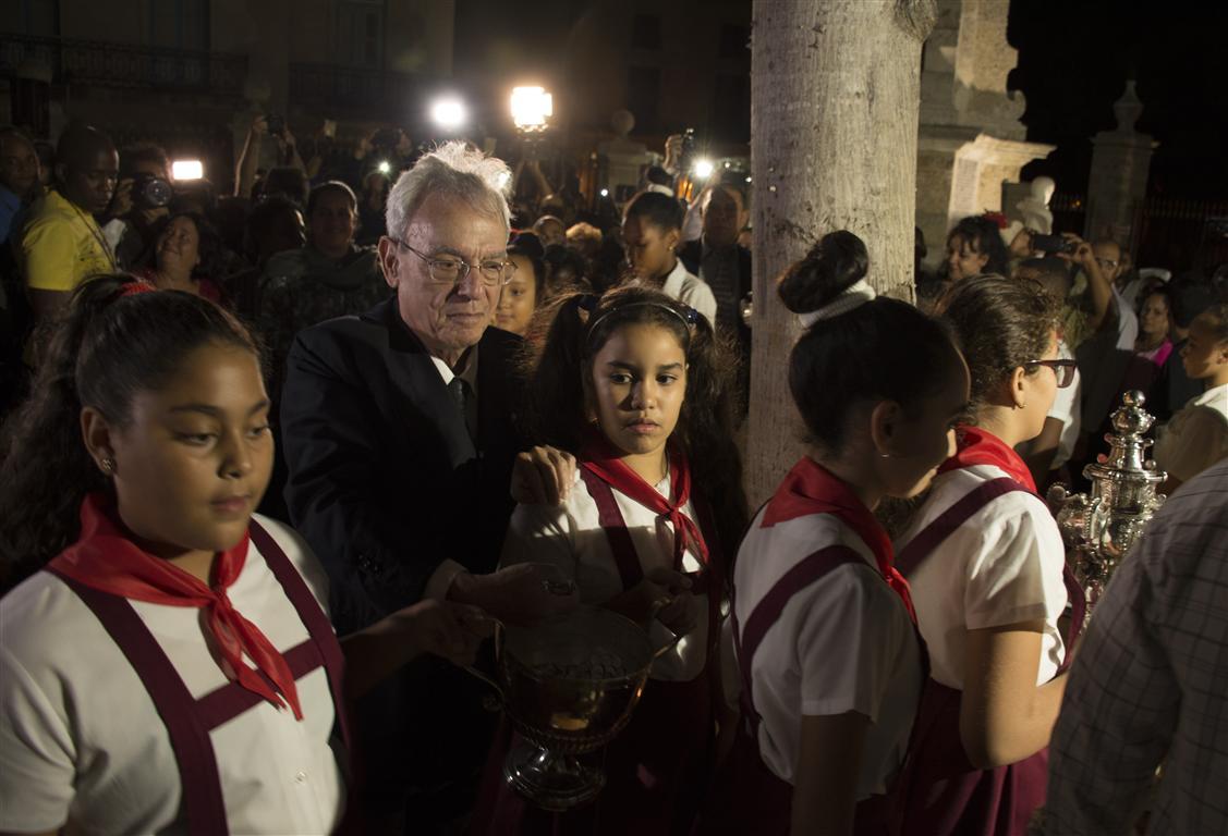 Acto por el aniversario 499 de la fundación de La Habana