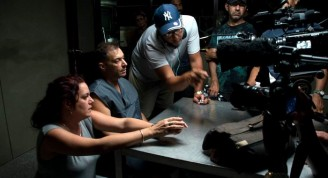 """Blanca Rosa Blanco en la filmación de """"El regreso"""""""