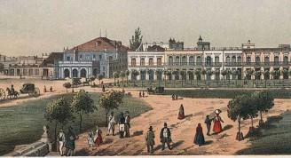 Teatro Tacón visto desde la Puerta de Monserrate. (foto WI-KIPEDIA)