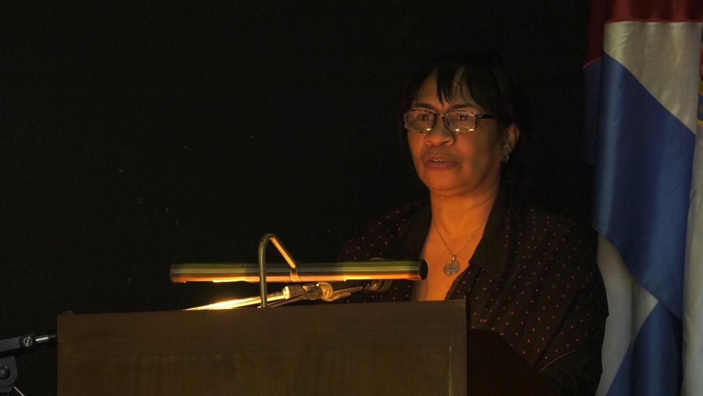 Doctora Miriam Nicado García, miembro del Buró Político del Partido Comunista de Cuba (PCC) y rectora de la Universidad de La Habana
