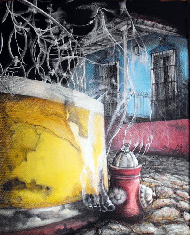 El aguador vigía (Mixta/lienzo) 105x86 cm