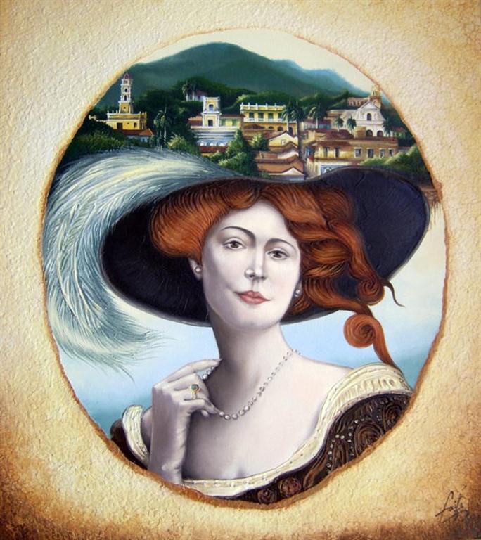 La perla de mis ojos (Oleo,collage/Lienzo) 100x80 cm