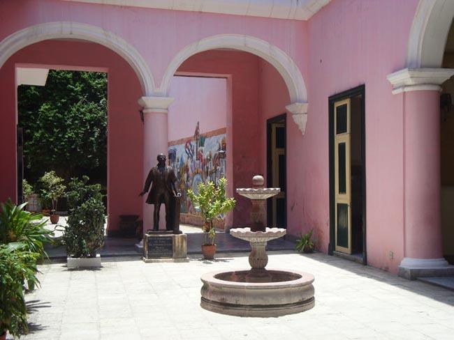 Patio interior de la Casa de México