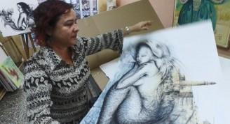 Ángel sumergido es la obra que le regala Yudit Vidal Faife al aniversario 500 de La Habana. (Foto: Frank de la Guardia Rondón)