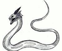 Representacion del basilisco en la antiguedad.