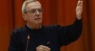 Eusebio Leal Spengler, Historiador de La Habana, imparte conferencia magistral en la sesión de clausura de la IV Conferencia Internacional por el Equilibrio del Mundo, en el Palacio de las Convenciones, en La Habana, Cuba, el 31 de enero de 2019.   ACN FOTO/Marcelino VÁZQUEZ HERNÁNDEZ/sdl