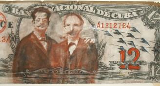 Javier Guerra Amistad, 2009 Mixta sobre papel 203 x 97 cm Colección privada del artista