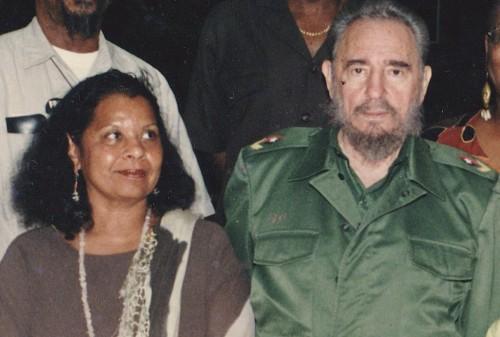 Rosemari Mealy y Fidel Castro