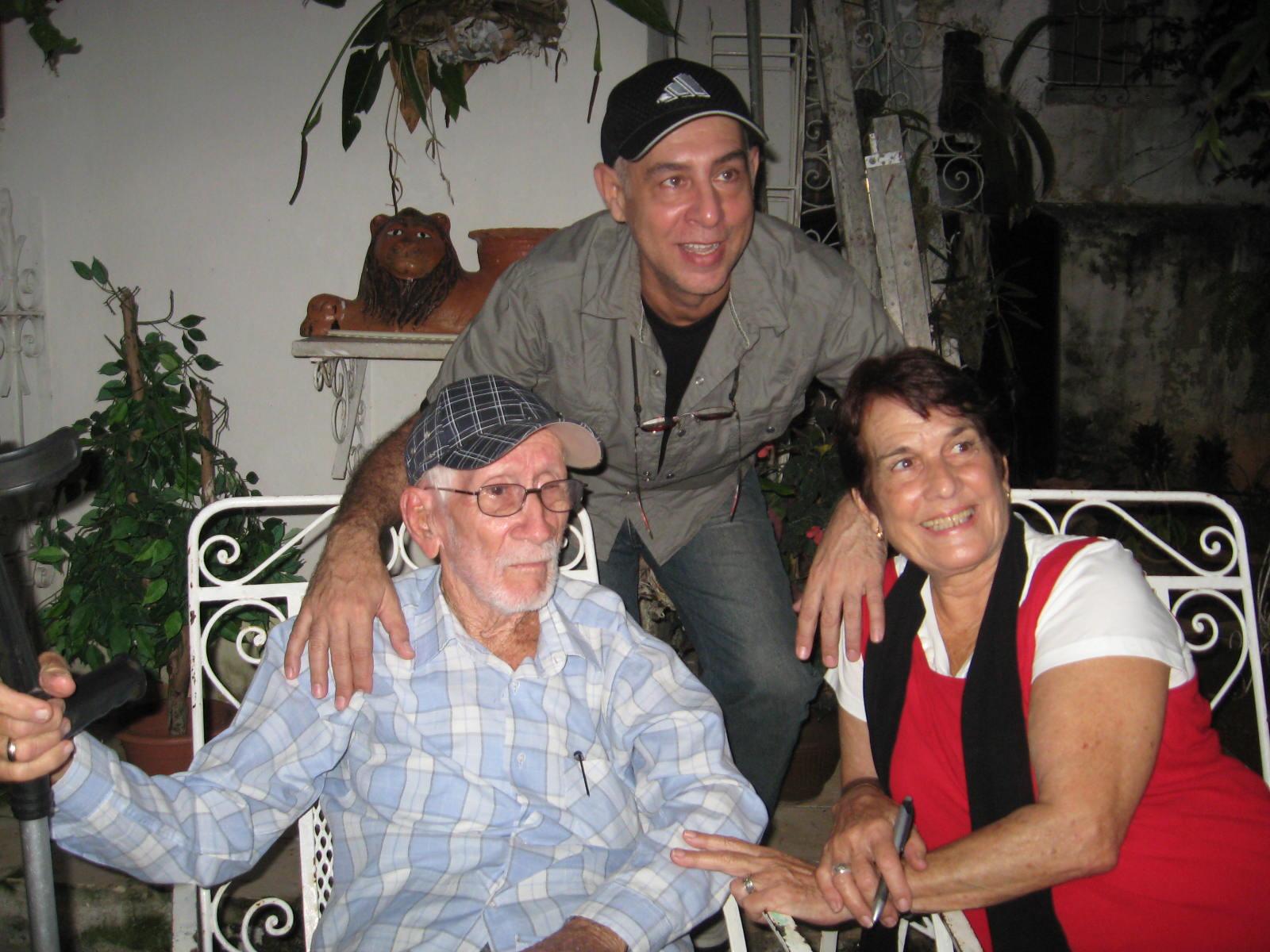 Luis Marré, Rafael Díaz Pérez y Juanita