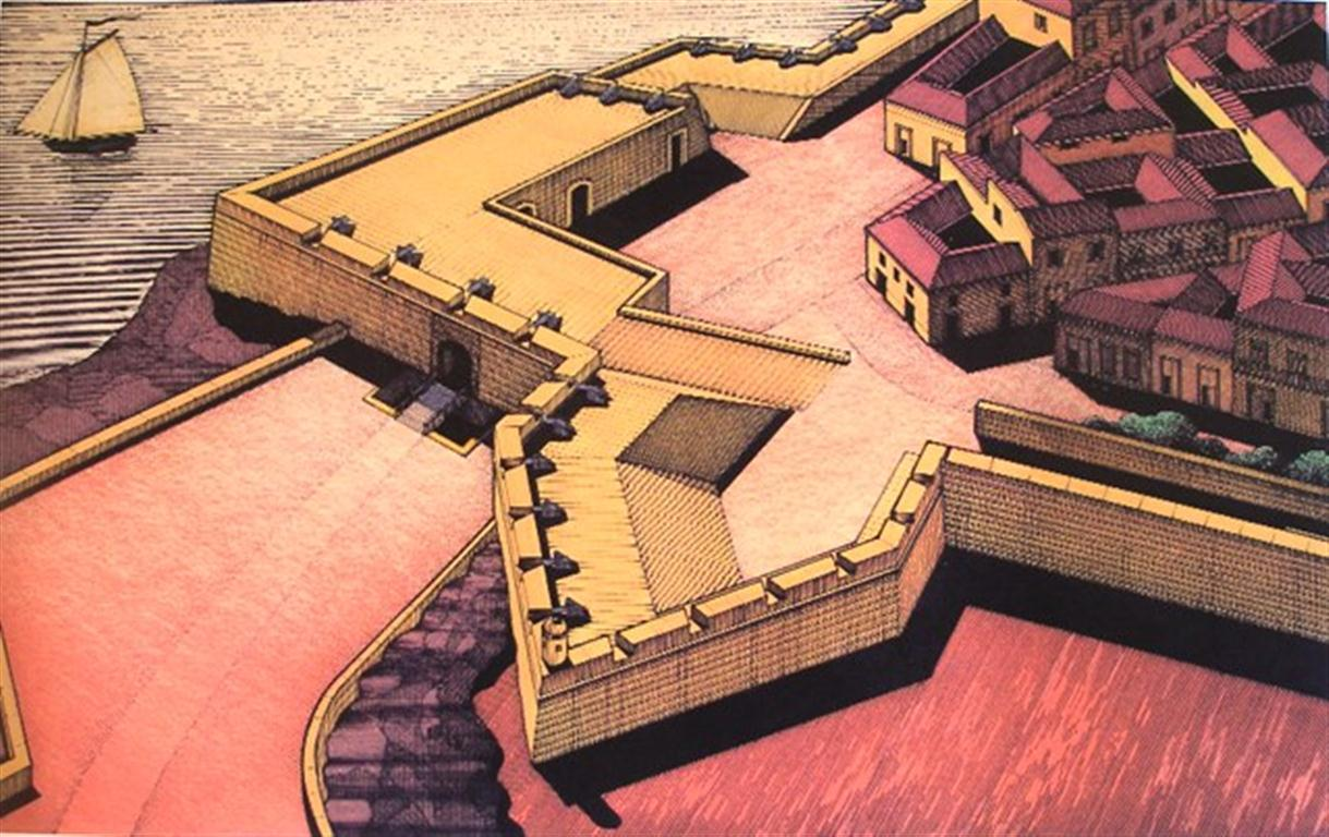 Muralla de mar. Puerta de La Punta, siglo XVIII