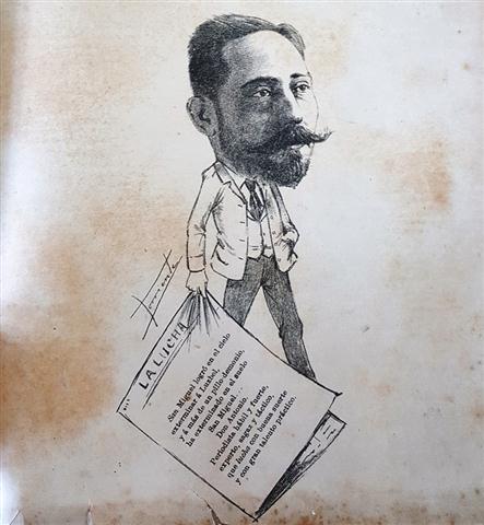 Caricatura de Antonio San Miguel. El Fígaro 1888