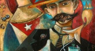 jose-marti-pintura-bandera-cubana