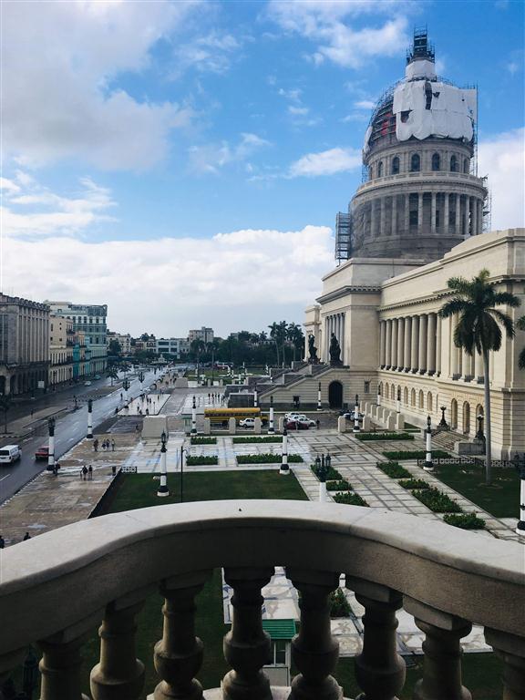 Uno de las vistas más privilegiadas es hacia el Capitolio desde uno de sus costados.