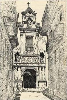 Portada del antiguo Seminario de San Carlos y San Ambrosio, en San Ignacio y Tejadillo