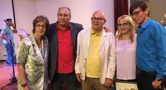 La periodista Sahily Tabares, el ministro de Cultura, Alpidio Alonso, el escritor Miguel Barnet, la periodista Magda Resik y el periodista Yuris Nórido. Foto: Cubarte.