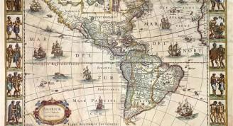 Americae Nova Tabula, de la autoría de Willem Janszoon Blaeu (Holanda). Fondo Archivo General de Indias (Medium) (Medium)