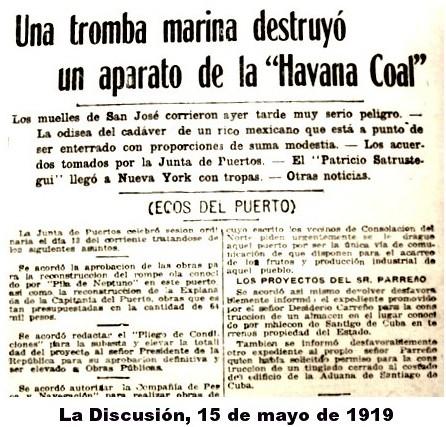 Tromba La Habana mayo 1919