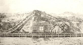 Tromba daña grúa de Havana Coal, 1919