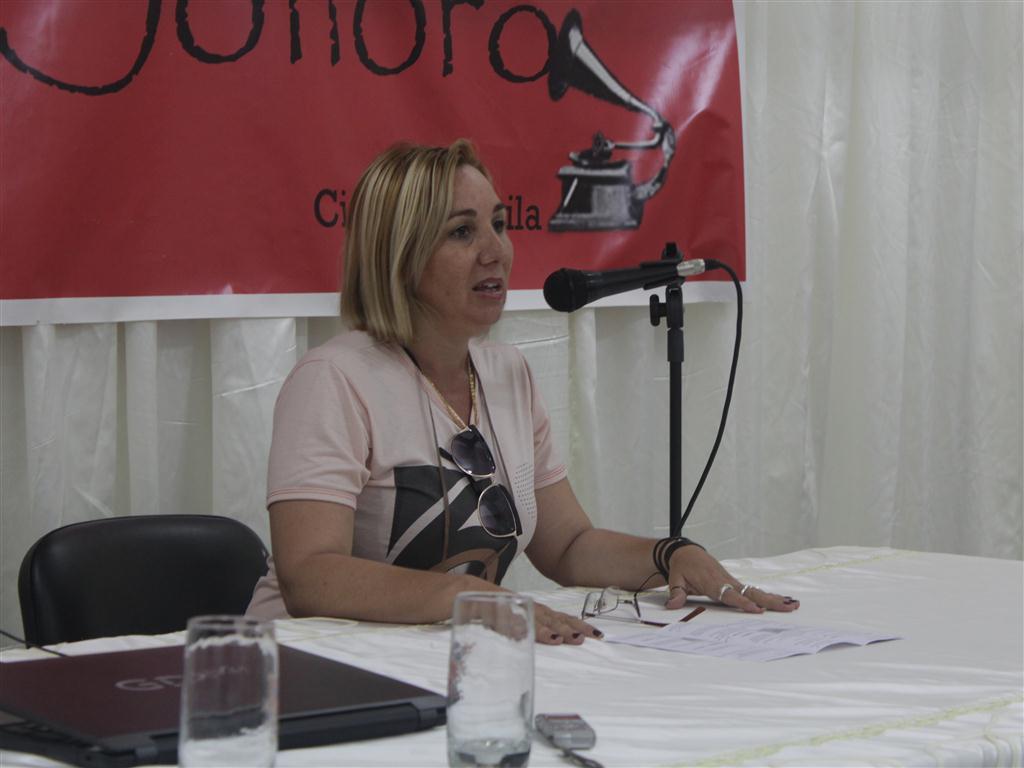 Yusmaidi Marrero, organizadora del evento