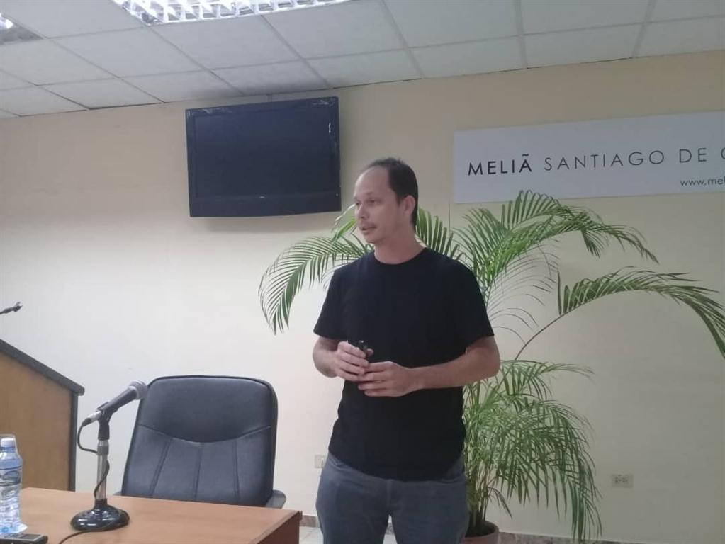 Kiovec Sánchez, arquitecto de la Oficina del Historiador de la Ciudad de La Habana