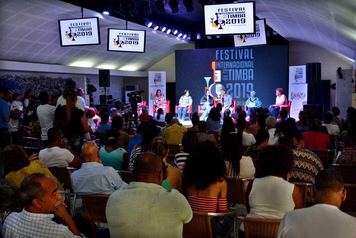 """Conferencia de prensa ofrecida con motivo del Primer Festival Internacional de la Timba """"Por Siempre Formell"""", efectuada en el Centro Cultural de Artex El Sauce, en La Habana, Cuba, 19 de julio de 2019. ACN FOTO/Omara GARCÍA MEDEROS"""