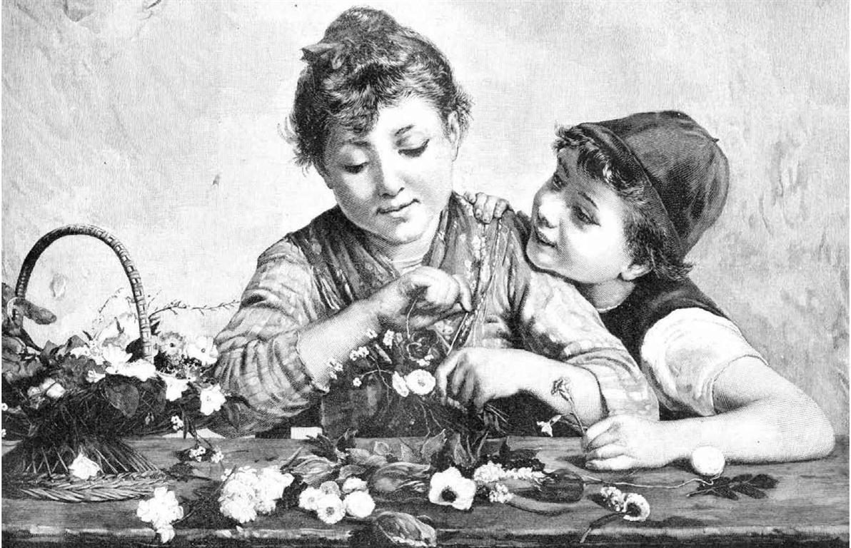 Las hermanitas floristas (Medium)
