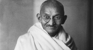 Indian statesman and activist Mohandas Karamchand Gandhi (1869 - 1948), circa 1940.  (Photo by Dinodia Photos/Getty Images)