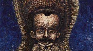 """""""En el jardín de la noche"""" Eduardo Abela Torrás Óleo sobre tela 45 x 35 cm"""