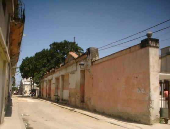 Muro del antiguo Hospicio de San isidro, antes de las obras