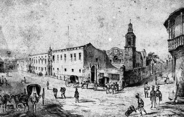 plazuela y convento de Belén, imagen antigua