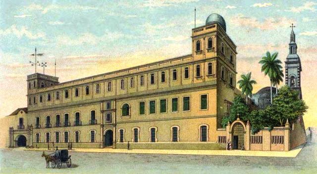 plazuela y convento de Belén, postal de la época