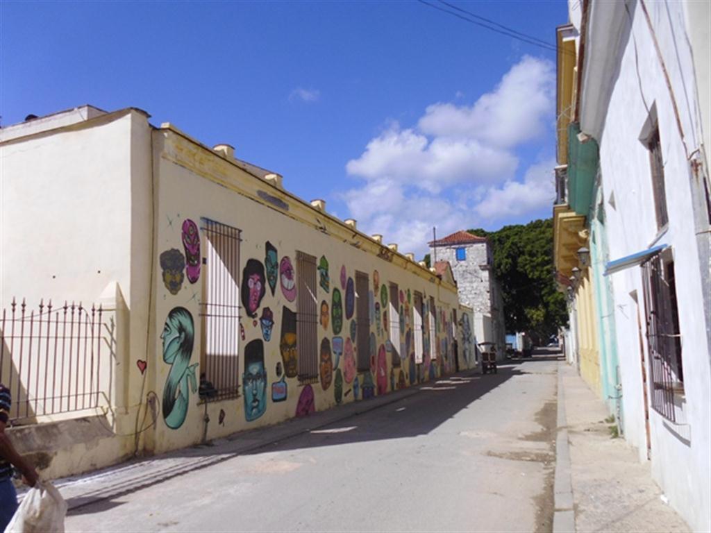 Muro del antiguo Hospicio en la actualidad