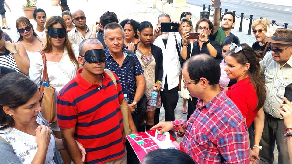 Sentir para ver, fotos tomada del Facebook de San Cristóbal